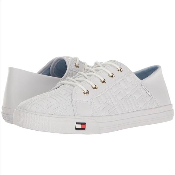 f0efee5a2 Tommy Hilfiger Womens Aleeh Sneaker White NEW 9.5.  M 5a6a60dc2ab8c5ec31dd4e28